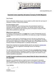 Aeroplane Company Profile issue Aeroplane Company Profile