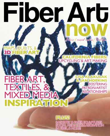 Fiber Art Now issue Summer 2015