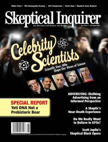 Skeptical Inquirer issue July August 2015