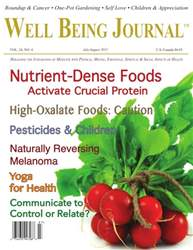 Well Being Journal issue July/August 2015