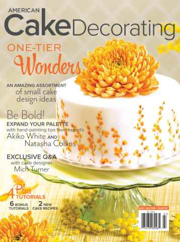 American Cake Decorating issue July/August 2015