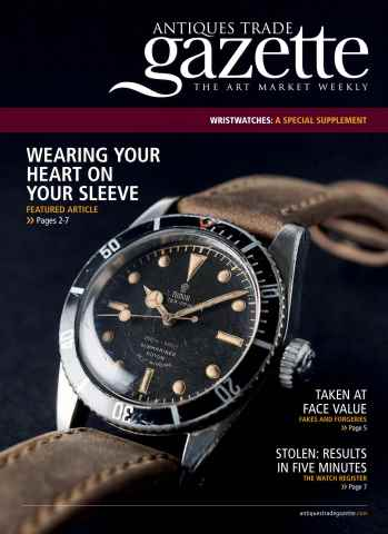 Antiques Trade Gazette issue ATG WATCHES FEATURE