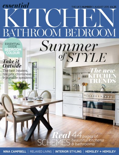 Essential kitchen bathroom bedroom magazine august 2015 subscriptions pocketmags for Essential kitchens and bathrooms