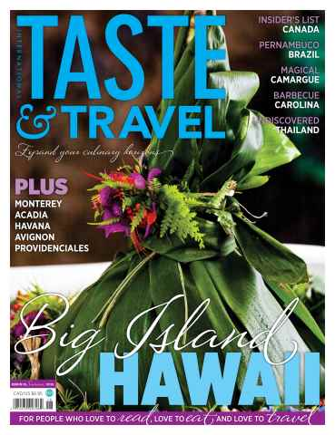 Taste & Travel International issue Summer 2015