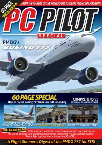 Aviation Specials issue PMDG's Boeing 777 - PC Pilot Special