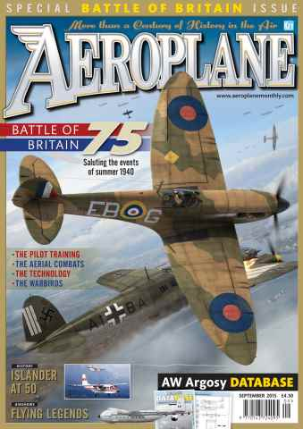 Aeroplane issue September 2015