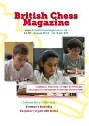 British Chess Magazine issue August 2015