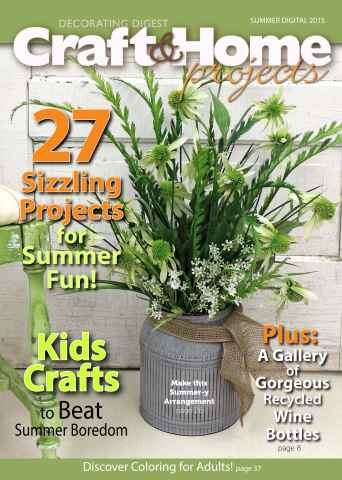 Craft & Home Projects issue Summer 2015