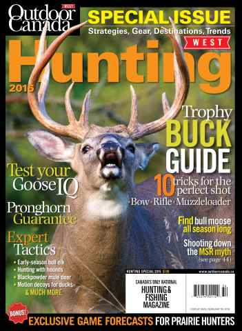Outdoor Canada issue Hunt Special 15 WEST