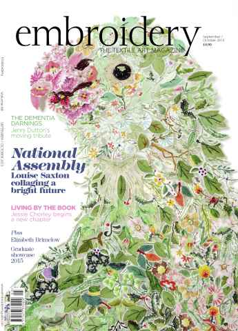 Embroidery Magazine issue September October 2015