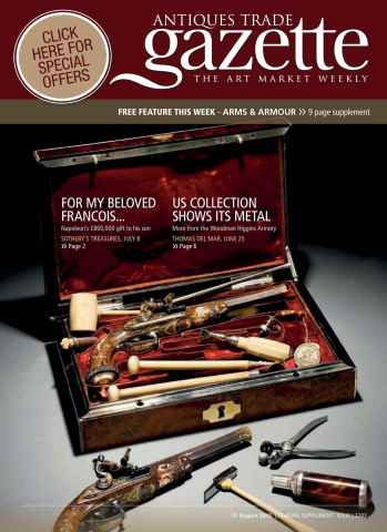 Antiques Trade Gazette issue ATG ARMS & ARMOUR FEATURE