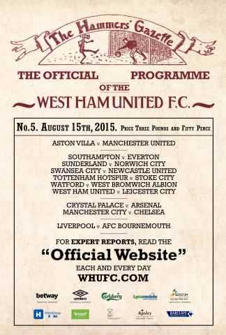 West Ham Utd Official Programmes issue LEICESTER CITY  BPL