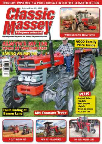 Classic Massey issue No. 58 Alwyn's MF 158 stars at tractor fest