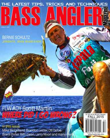 BASS ANGLER MAGAZINE issue Fall 2015