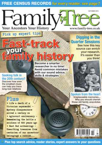 Family Tree issue Family Tree October 2015