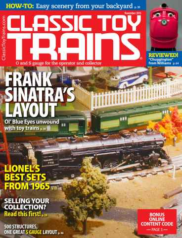 Classic Toy Trains issue November 2015