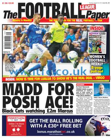 The Football League Paper issue 30th August 2015