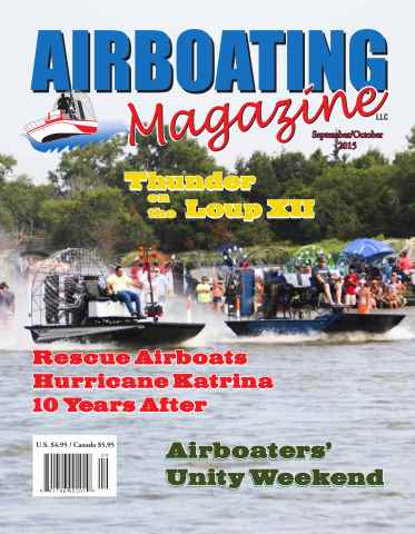 Airboating Magazine issue Airboating Magazine SeptOct 2015