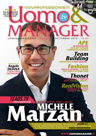 UOMO & MANAGER issue Uomo&Manager Settembre2015