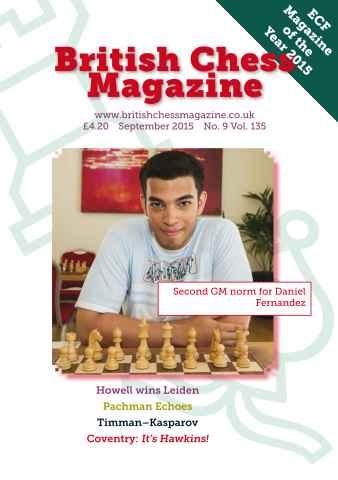 British Chess Magazine issue September 2015
