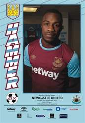 West Ham Utd Official Programmes issue NEWCASTLE BPL