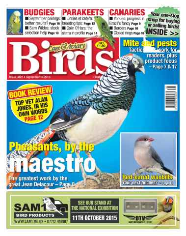 Cage & Aviary Birds issue No. 5872 Pheasants, by the maestro
