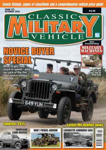 Classic Military Vehicle issue October 2015