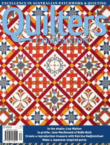 Quilters Companion issue Issue#75 Oct/Nov 15