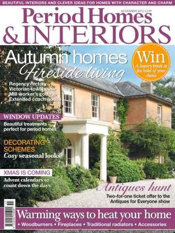 British Period Homes issue No. 64 Autumn homes