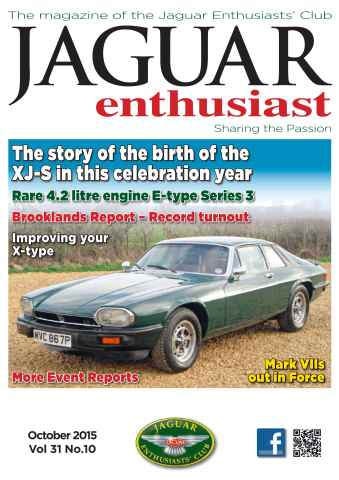 Jaguar Enthusiast issue Vol. 31 No. 10 The story of the birth of the XJ-S