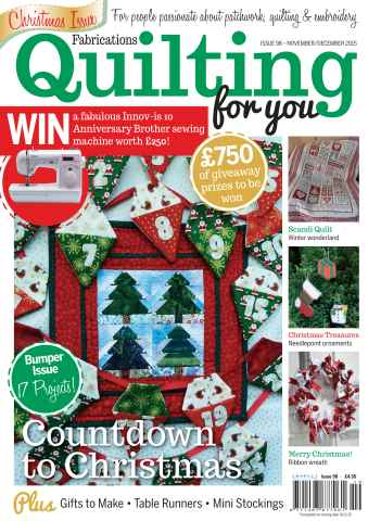 Fabrications: Quilting for You issue November/December 2015