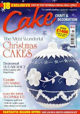 Cake Craft and Decoration Magazine issue November 2015