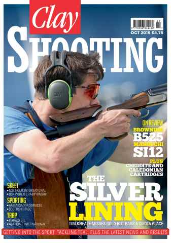 Clay Shooting issue October 2015
