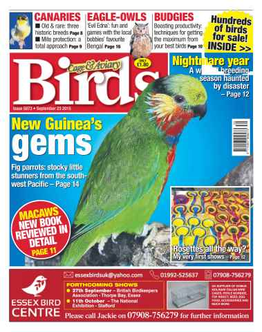 Cage & Aviary Birds issue No. 5873 New Guinea's gems