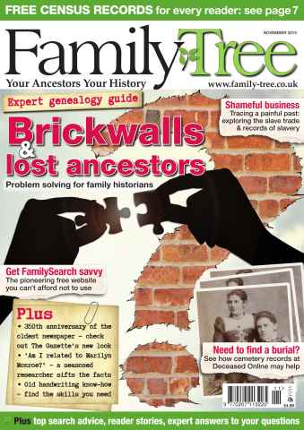 Family Tree issue Family Tree November 2015