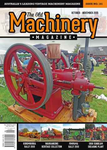 The Old Machinery Magazine issue October November