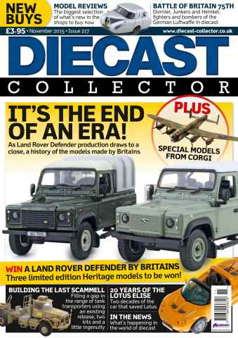 Diecast Collector issue November 2015
