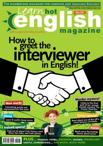 Learn Hot English issue Learn Hot English 161 October
