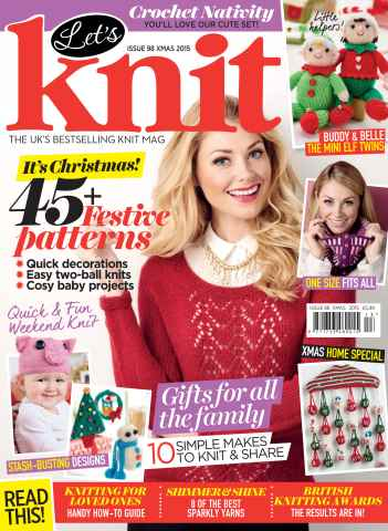 Let's Knit issue Xmas Spec 2015