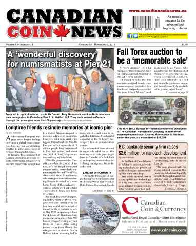 Canadian Coin News issue V53#14 - October 20