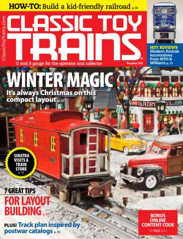 Classic Toy Trains issue December 2015