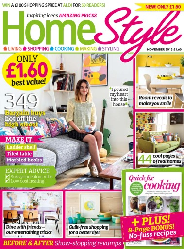 homestyle magazine november 2015 subscriptions pocketmags. Black Bedroom Furniture Sets. Home Design Ideas