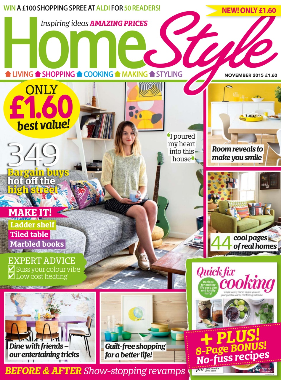 Homestyle Magazine November 2015 Subscriptions Pocketmags