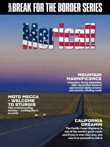 Australian Road Rider issue Break for the Border: America