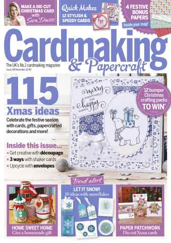 Cardmaking & Papercraft issue November 2015