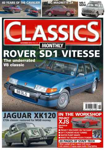 Classics Monthly issue No. 235 Rover SD1 Vitesse