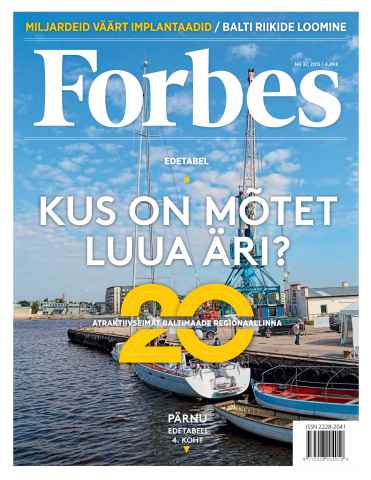 Forbes Estonia issue Forbes Oct '15