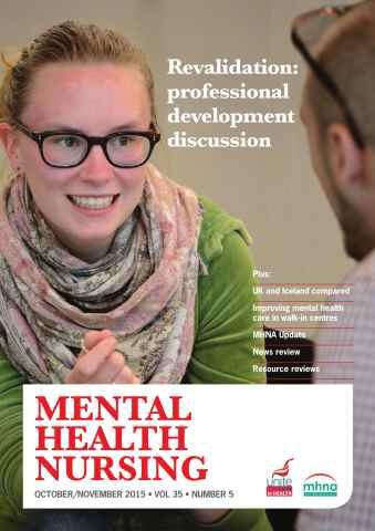 Mental Health Nursing issue Mental Health Nursing October/November 2015