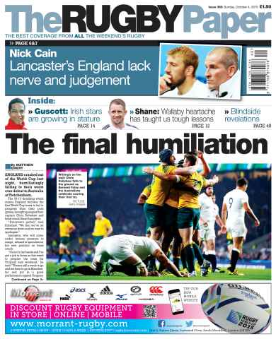 The Rugby Paper issue 4th October 2015
