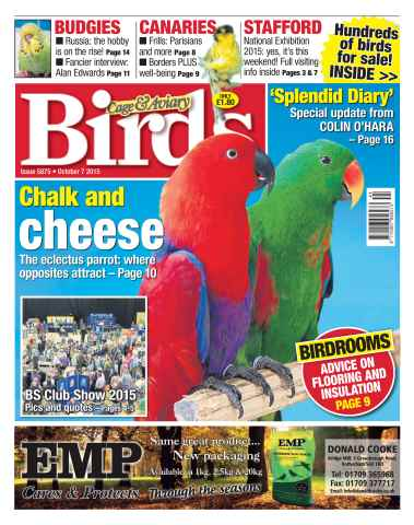 Cage & Aviary Birds issue No. 5875 Chalk and Cheese